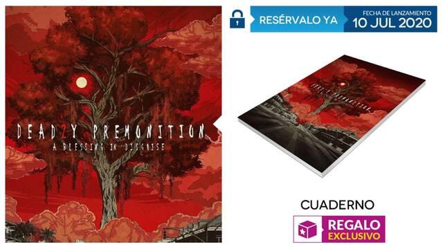 Cuaderno exclusivo de regalo con las reservas de Deadly Premonition 2 en GAME.