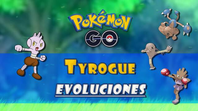 Pokémon GO: Evolucionar a Tyrogue en Hitmonlee, Hitmonchan o Hitmontop