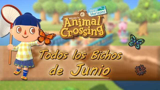 Bichos disponibles en Junio 2020 en Animal Crossing: New Horizons