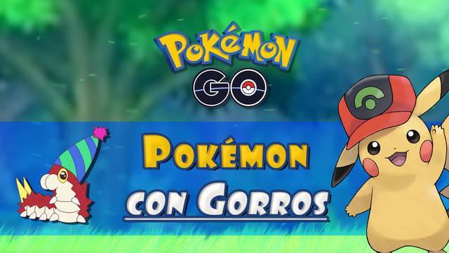¿Cómo conseguir a los Pokémon con gorros especiales en Pokémon Go?