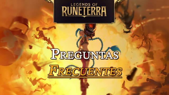 Preguntas frecuentes en Legends of Runeterra