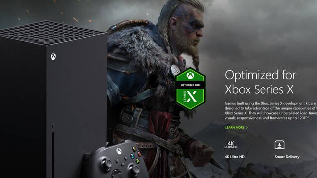Xbox Series X Mejoras Assassin's Creed Valhalla