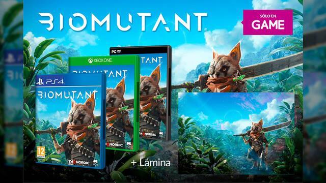 GAME España anuncia el incentivo de reserva de Biomutant