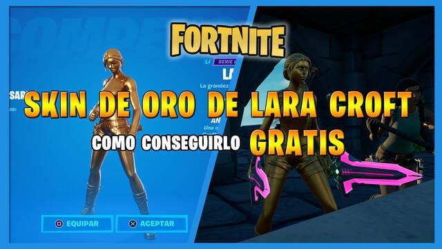 Fortnite: cómo conseguir el skin de oro de Lara Croft