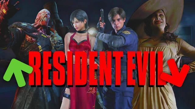 Resident Evil: Las entregas mejor y peor valoradas por la crítica.