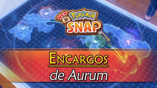 Encargos de Aurum en New Pokémon Snap y cómo completarlos