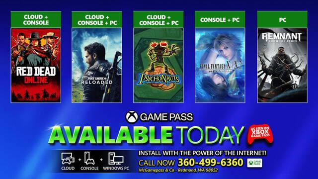 Xbox Game Pass: ya están disponibles Red Dead Online, Just Cause 4, Remnant y otros más