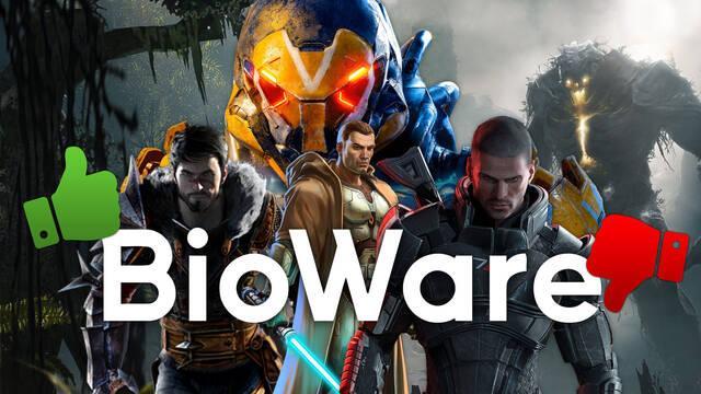 Los juegos de BioWare mejor y peor valorados por la crítica