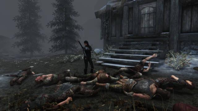 Una jugadora mata a todos los personajes y enemigos de Skyrim.