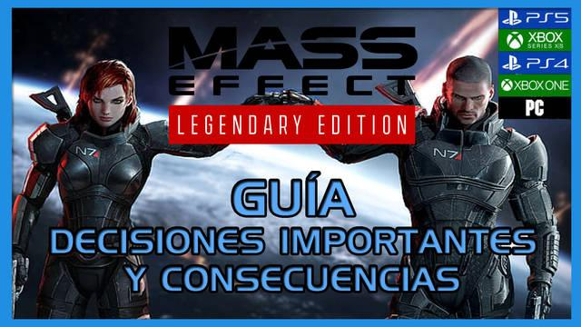 Guía Mass Effect: Legendary Edition, trucos, consejos y secretos