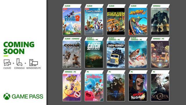 Juegos de Xbox Game Pass en la segunda oleada de mayo.