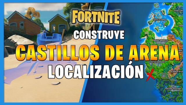 Fortnite: construye castillos de arena especiales - LOCALIZACIÓN