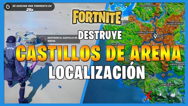 Fortnite: destruye castillos de arena especiales - LOCALIZACIÓN