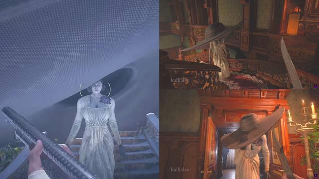 Mod para Resident Evil 8: Village hace crecer el sombrero de Lady Dimitrescu al mirarla