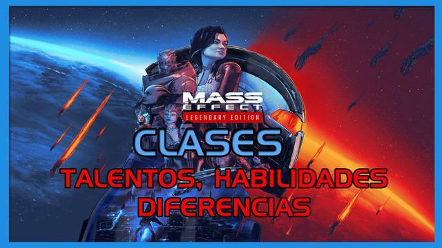 Clases en Mass Effect (1, 2 y 3): habilidades, talentos y diferencias