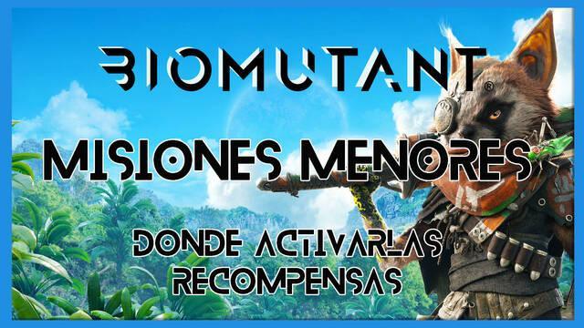 Biomutant: misiones secundarias menores - Localización y recompensas