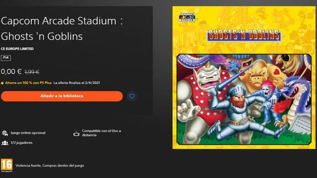Capcom Arcade Stadium Ghosts 'n Goblins gratis PS4 PlayStation Plus