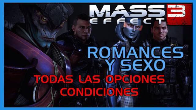 Mass Effect 3: TODOS los romances y sexo