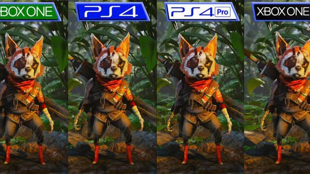 Así es Biomutant comparado en PS4, Xbox One, PS4 Pro y Xbox One X.