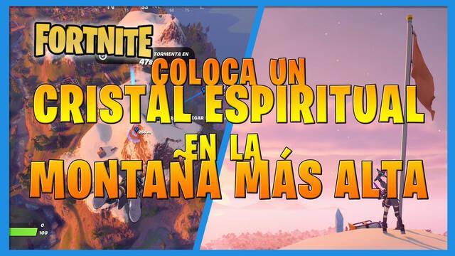 Fortnite: coloca un cristal espiritual en la montaña más alta