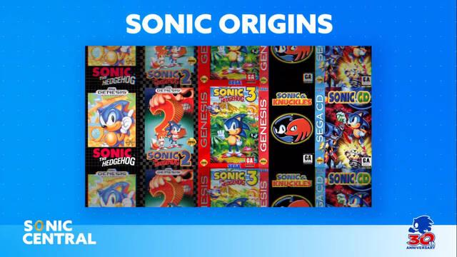 Anunciado Sonic Origins, un recopilatorio para celebrar el 30 aniversario del erizo azul.