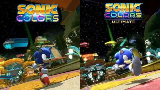 Así luce Sonic Colours Ultimate vs Sonic Colours original de Nintendo Wii