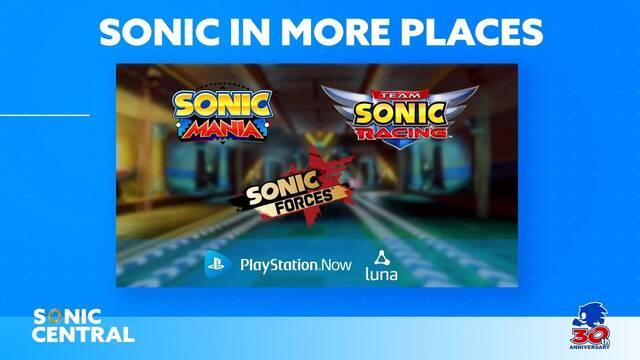 Sonic Forces, Sonic Mania y Team Sonic Racing llegarán a PS Now y Amazon Luna