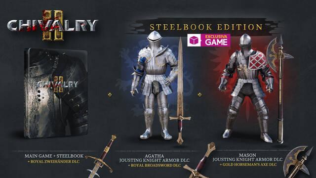 Chivalry 2: Steelbook Edition ya disponible en exclusiva en GAME con contenido extra.