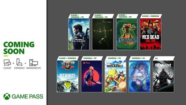 Nuevos juegos de Xbox Game Pass en la primera quincena de mayo.