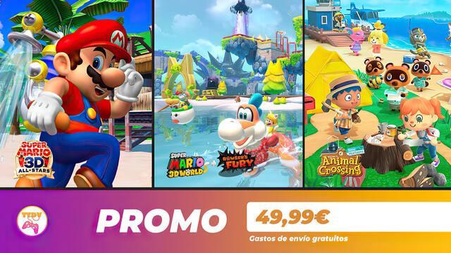Ofertas en juegos de Nintendo en TTDV: Animal Crossing, Super Mario y más