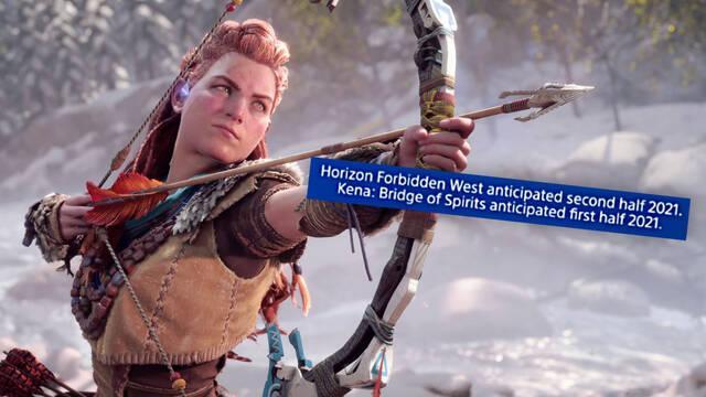 Horizon 2 Forbidden West podría llegar a PS5 y PS4 a finales de 2021.