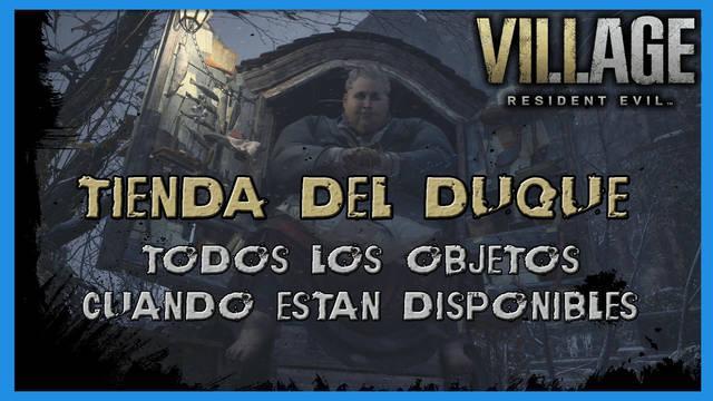 Resident Evil 8 Village: tienda del Duque: todos los objetos