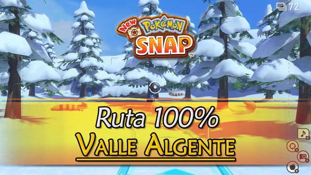 New Pokémon Snap: Valle Algente de Durus al 100% y Pokémon
