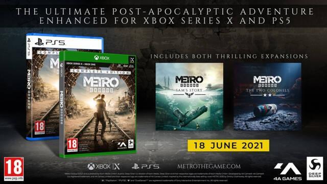 Metro Exodus Complete Edition llegará a PS5 y Xbox Series X/S el 18 de junio.