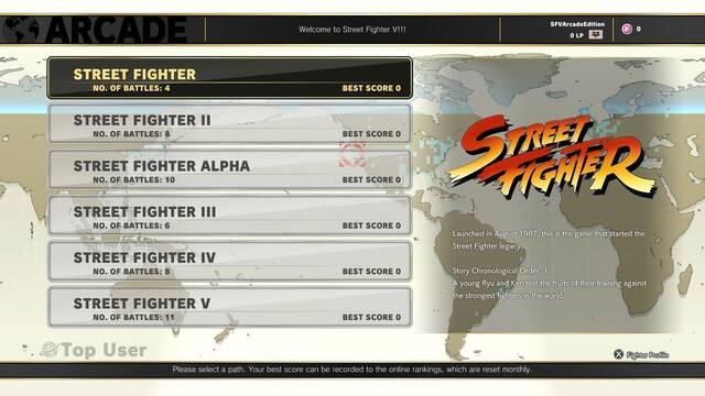 Detallado el modo arcade de Street Fighter V: Arcade Edition