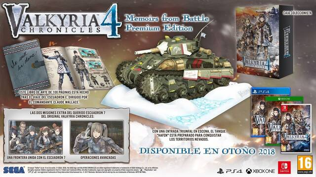 Así es la edición Memoirs from Battle de Valkyria Chronicles 4