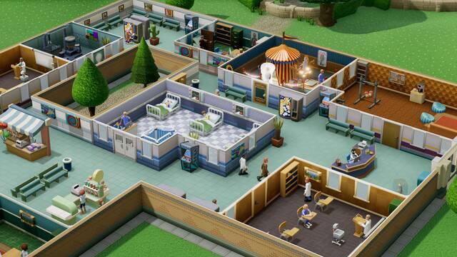 Diseña los interiores en Two Point Hospital