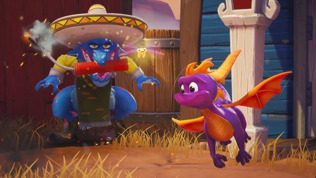 Spyro Reignited Trilogy muestra Dino Mines de Spyro: El año del dragón