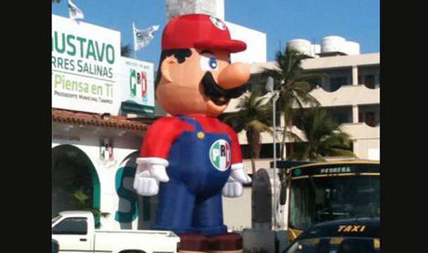 El PRI mexicano utiliza a Super Mario en una campaña electoral local
