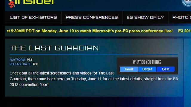 The Last Guardian estaría en el E3 y sigue siendo un juego de PlayStation 3