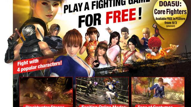 La versión gratuita de Dead or Alive 5 Ultimate llegará a Occidente