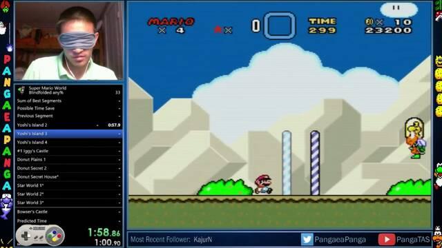 Completan Super Mario World en 23:14 minutos con los ojos vendados