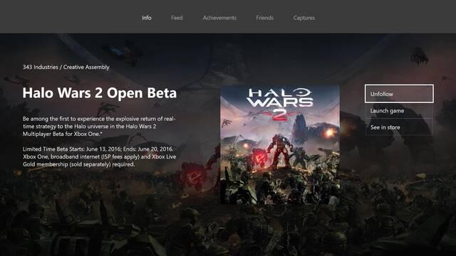 La beta abierta de Halo Wars 2 comenzaría el día 13 de junio