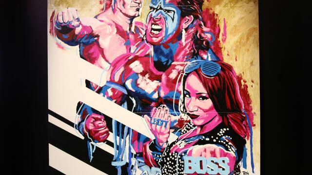2K anuncia a las nuevas Superstars del 'roster' de WWE 2K17 con un lienzo