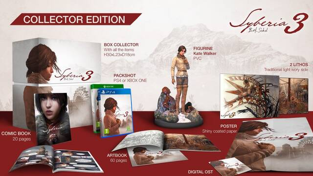 Syberia 3 tendrá una edición para coleccionistas