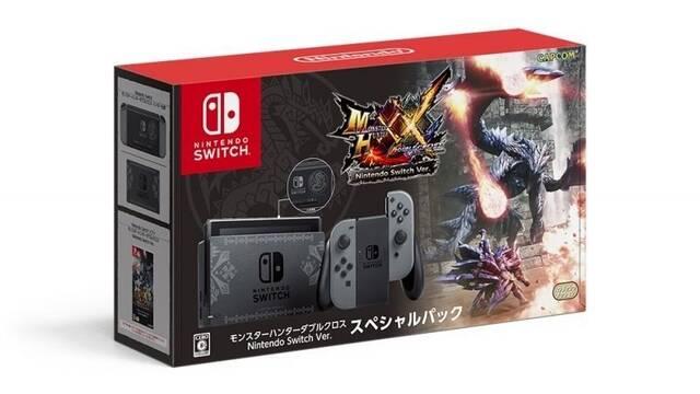 La Nintendo Switch de Monster Hunter XX muestra su embalaje y diseño