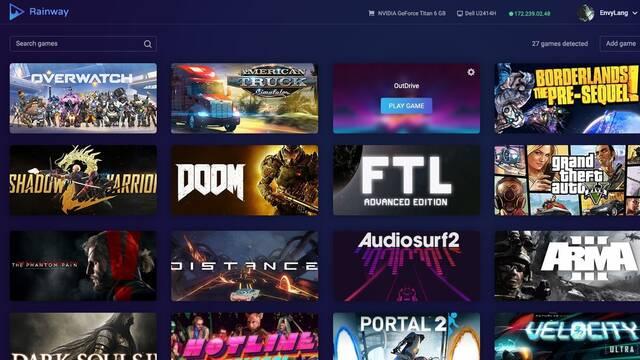 El sistema de stream de juegos Rainway muestra su concepto en vídeo