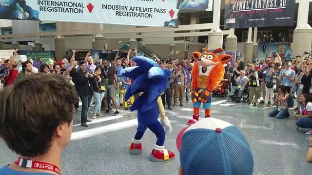Crash y Sonic se enfrentan a un duelo de baile en el E3 2017