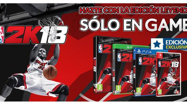 GAME venderá en exclusiva la edición Legendaria de NBA 2K18
