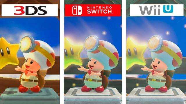 Comparan Captain Toad: Treasure Tracker en Switch, Wii U y 3DS